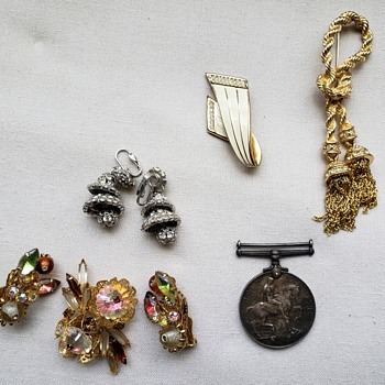 Brooches and Earrings - Costume Jewelry