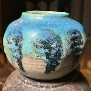 Nice little pot with a beautiful glaze - signed Ene? - Pottery