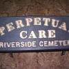 Cemetery sign.