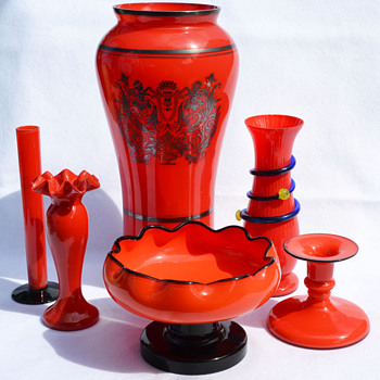 Tango Red - Art Glass