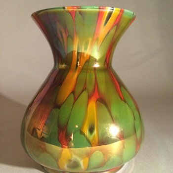 Kralik Spatter and Millefiori Vase - Art Glass