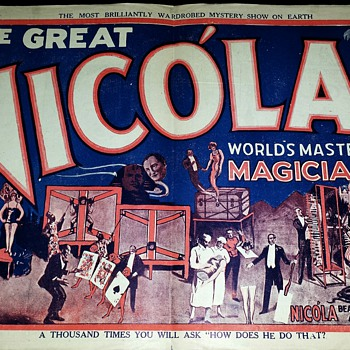 "Original ""The Great Nicola"" Mini Lithograph Poster"