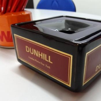 NoS ceramic Dunhill 'lift-off-top' ashtray - Tobacciana