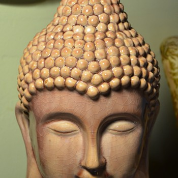 Large Buddha Head from Goodwill - Pottery