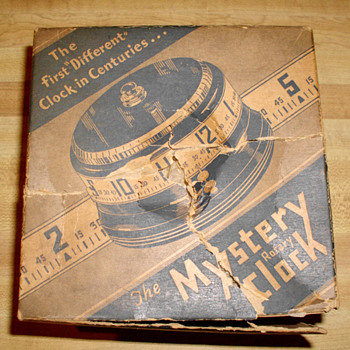 Brand New Large Lux 1935 Mystery Rotary Annular Clock and Original Box