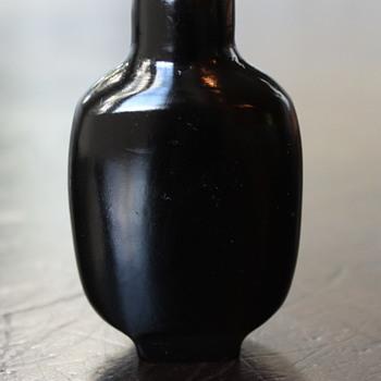 Plain Black Lacquer Snuff Bottle