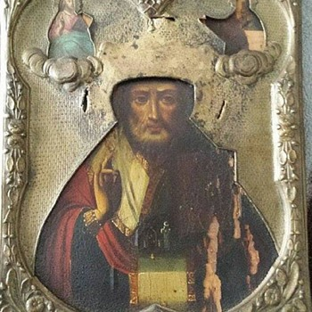 Posting This For A Canadian Friend - Mystery Painting St. Nicholas Icon