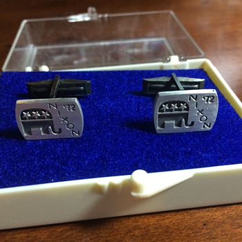 The most I have EVER spent on eBay Cufflinks: Nixon in '72 FOR THE WIN! - Accessories