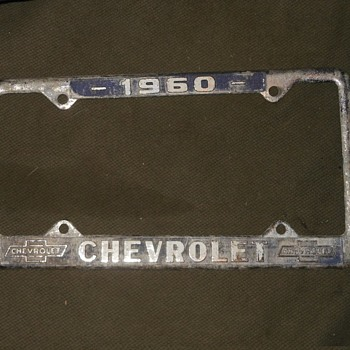 1960 Chevrolet License Plate Frame With License Plate - Classic Cars