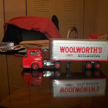an old woolworth toy semi and trailer - Model Cars