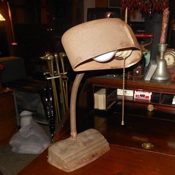 Vintange Gooseneck Desk Lamp Circa 1930s - Lamps