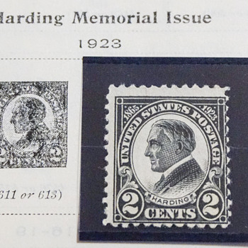 1923 Harding Memorial Issue 2 Cent Stamp