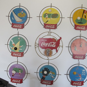 Kay Display Sports Signs Coca Cola All Nine Complete - Coca-Cola
