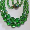 Green Crystal AB Necklace