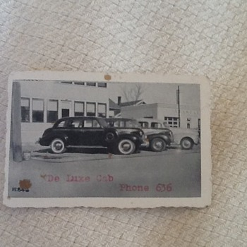De Luxe Cab business card--3 digit phone number  - Advertising