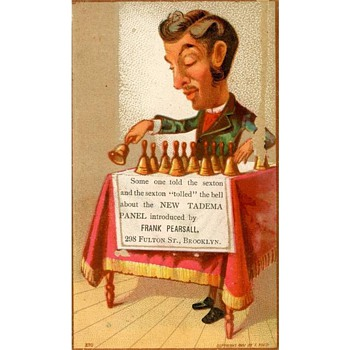 Three 1881 Trade Cards for Frank Pearsall, Brooklyn Photographer - Advertising