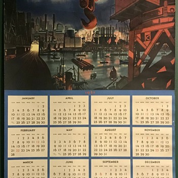 1937 Tycol single sheet calendar - Paper