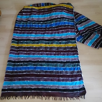 Blanket hand-loomed in Tangier, Morocco! - Rugs and Textiles