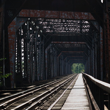 Black Diamond Railroad Bridge, Wilkes-Barre, PA - Railroadiana