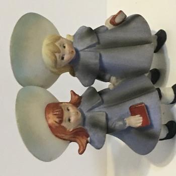 Lefton French school girls Figurine kw 1210 - Figurines