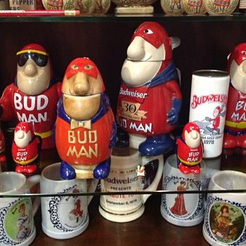 Budman steins - Breweriana