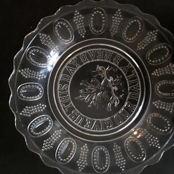 EAPG Bread Platter - Glassware