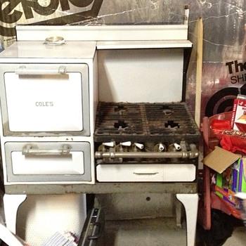 Antique cole's oven