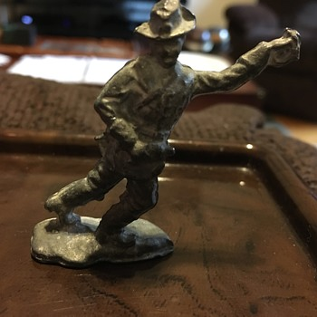 Rebel toy soldier - made of lead?