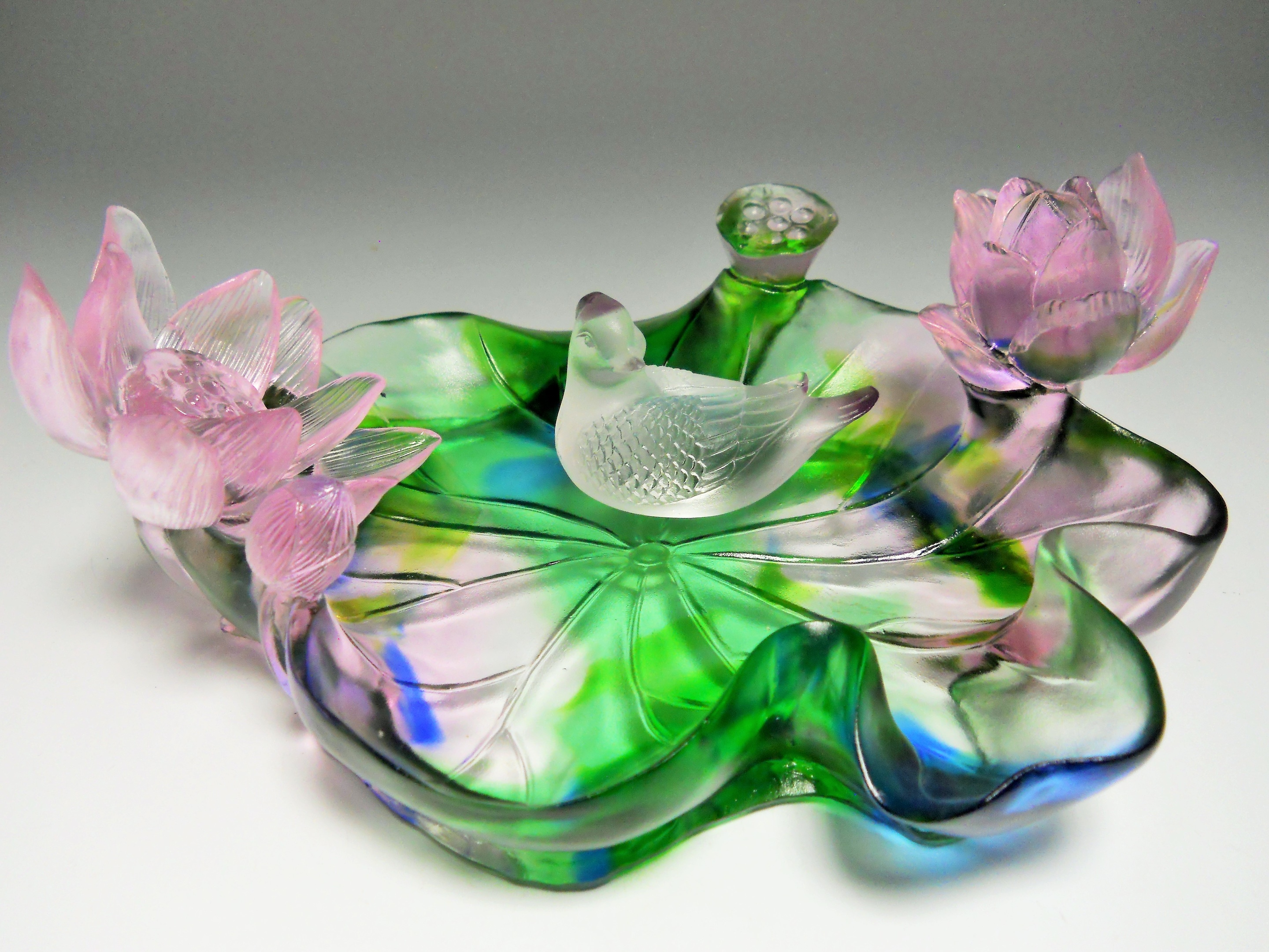 Chinese art glass sculpture lotus flowers circa 21 century chinese art glass sculpture lotus flowers circa 21 century collectors weekly izmirmasajfo