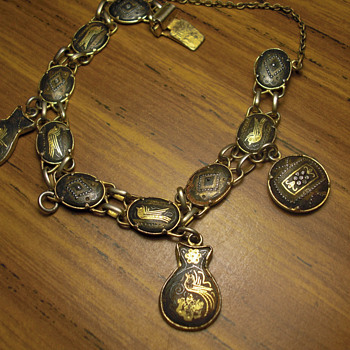 Unknown antique charm bracelet - Costume Jewelry