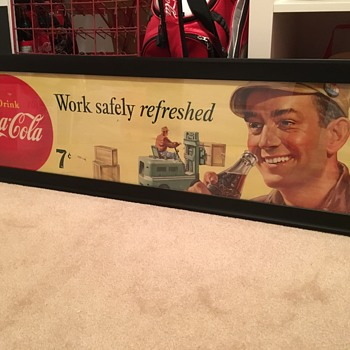 1948 - 50 Coca Cola Framed Lithograph - Coca-Cola