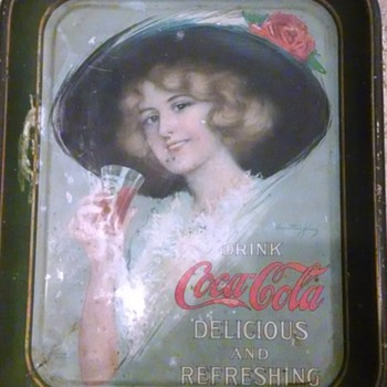 two old trays - Coca-Cola