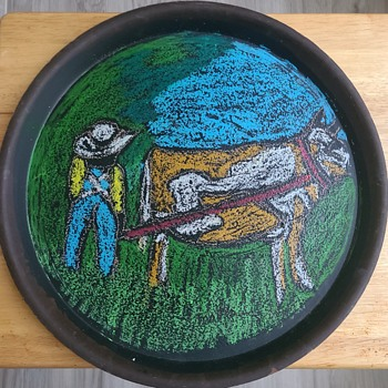 Molly Bee Tray - Folk Art