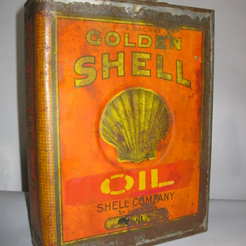 Early Shell Oil Can - Petroliana