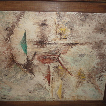 Abstract Nautical Scene signed Tiller - Fine Art