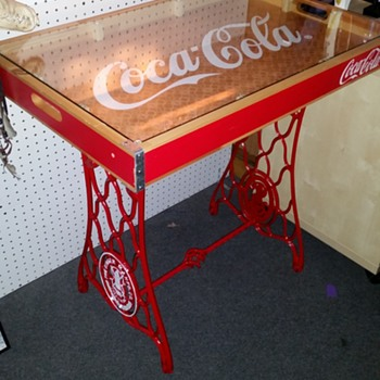 Custom Coca Cola - Singer Table - Coca-Cola
