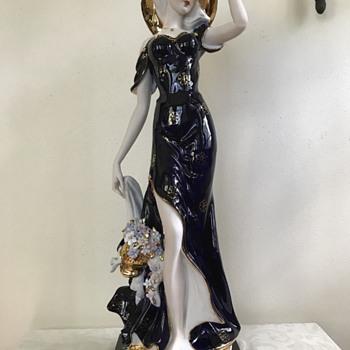 My Royal Dux/Capodimonte Style Figural Lamp