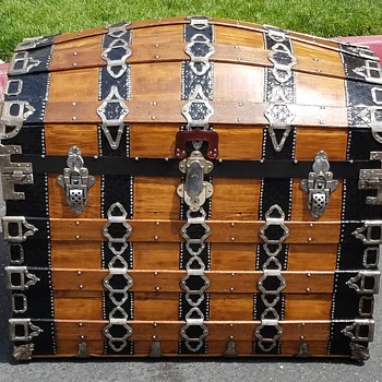 1880's  Romadka Bros. Antique Trunk - Furniture