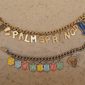 1960's-70's California souvenir charm bracelets - Costume Jewelry