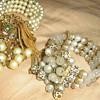 1950's bead memory cuff bracelets