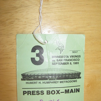 Ticket stub from Jerry Rice's 1st game