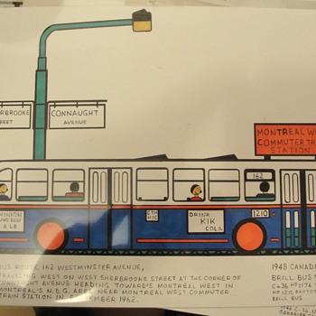 Naive Art Bus Transport  - Folk Art