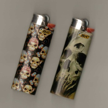 "BIC Lighters - ""Death-heads"" - Tobacciana"