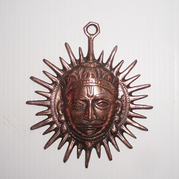 Vintage Metal Iron Man Head Face Wall Hanging - Asian
