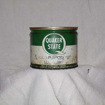 Quaker State Grease Can - Petroliana