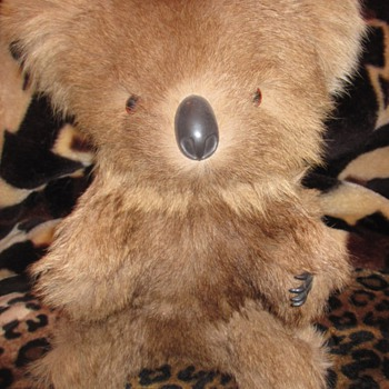 Vintage Koala Bear Real Kangaroo Fur - Dolls