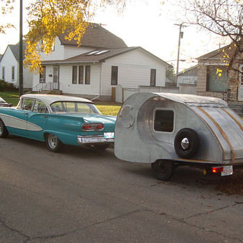 1958 FORD Fairlane with Teardrop Trailer - Classic Cars