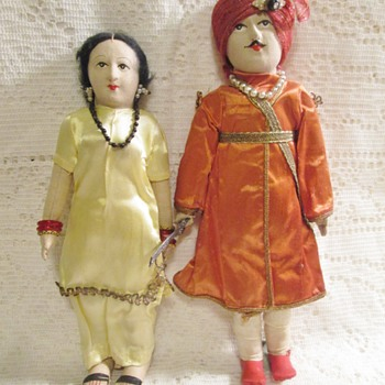 vintage Indian cloth dolls - Dolls