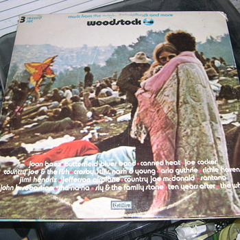 Woodstock Record Album 1970 Cotillion Records SD 3-500