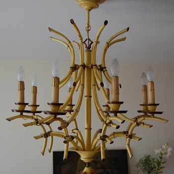 Colonial Bamboo light chandelier - Lamps